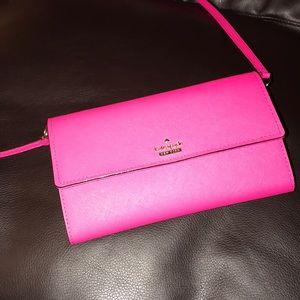 Kate spade hot pink wallet/crossbody bag
